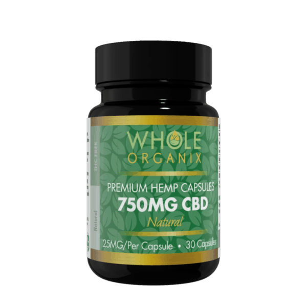 CBD capsule bottle