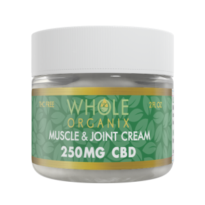 cbd muscle & joint cream jar